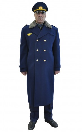 Пальто мужское зимнее утепленное на стеганной подкладке для работников РЖД