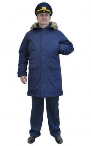 Куртка мужская зимняя на пуховом утеплителе, удлиненная
